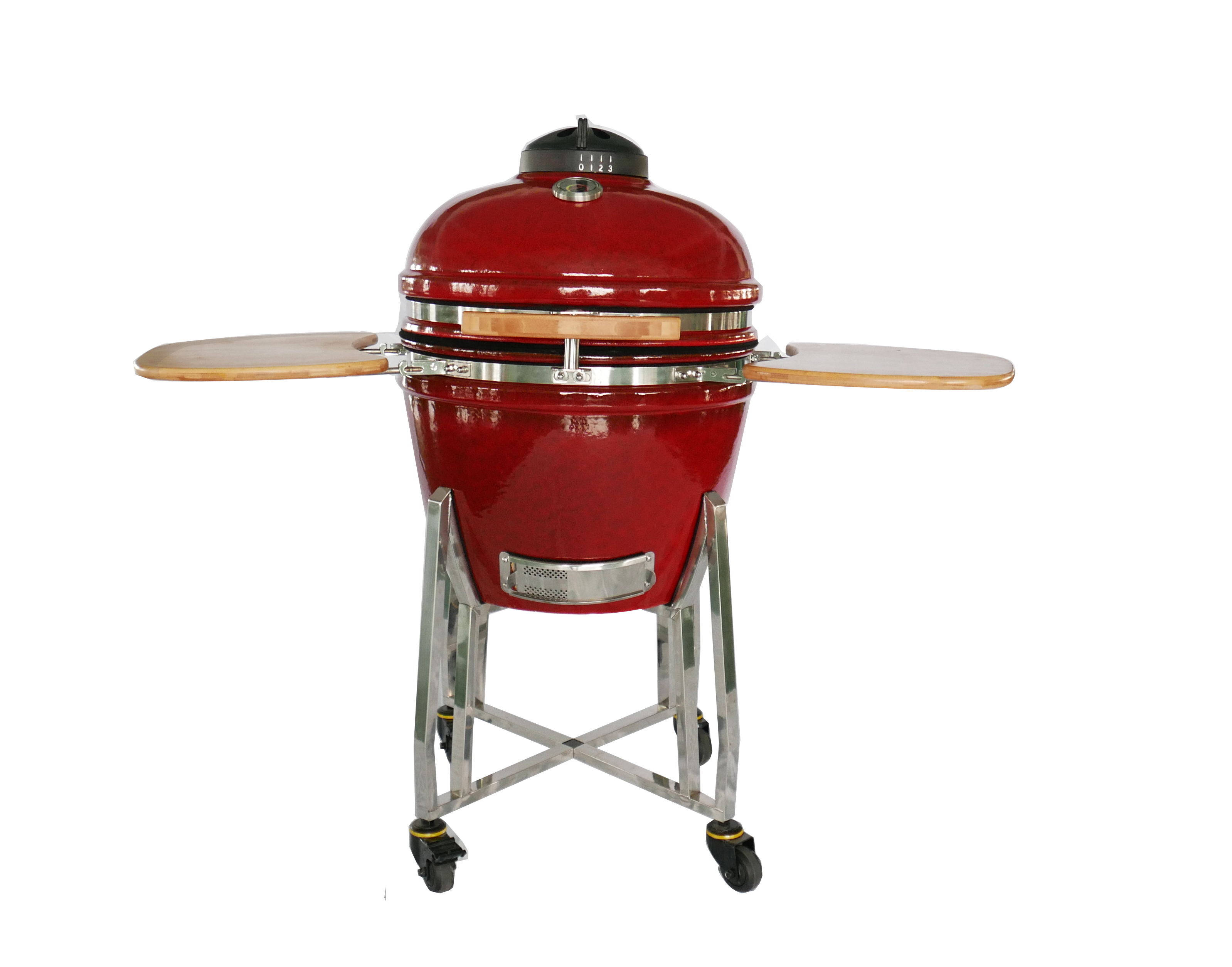 Fire red 22'' charocal ceramic bbq grill