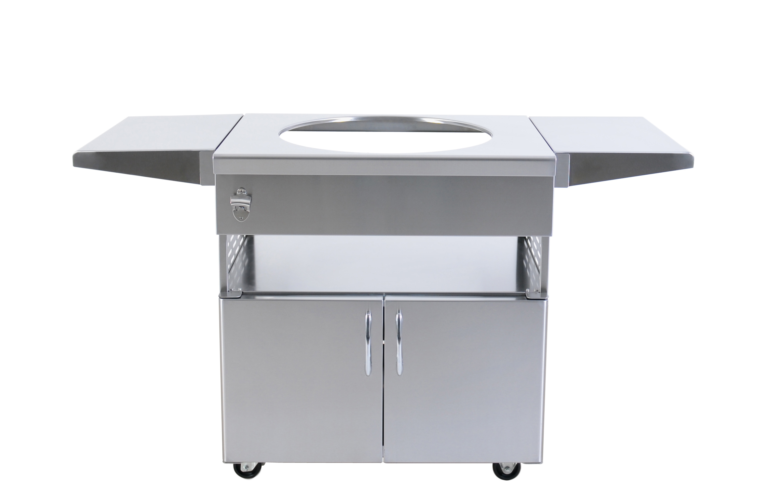 Luxury barbecue stainless steel benches